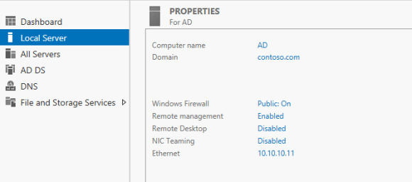 Installing Active Directory and DNS on Windows Server 2012 R2 - Domain and server info