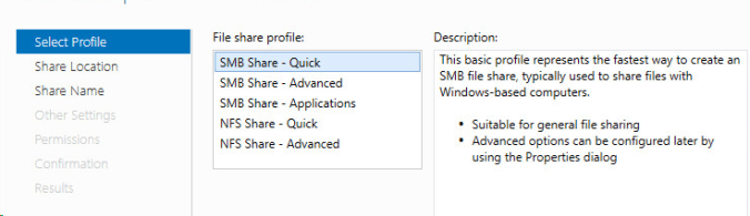 Roaming profiles SMB Share Quick