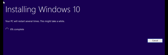 Upgrading Windows 10 Technical Preview version 10162 - Installing Windows 10