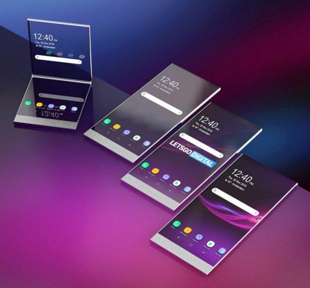 Прозрачный дисплей с ультрагибким экраном: Sony запатентовала необычный смартфон