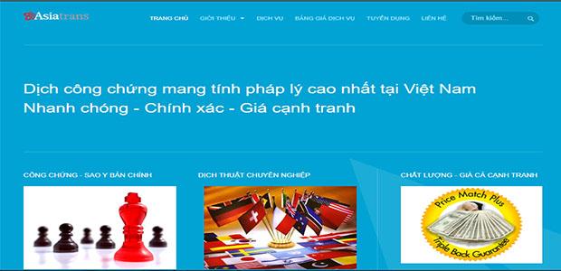 Ảnh website dịch thuật asia