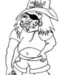 Pirát - omalovánky