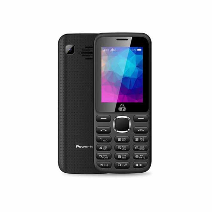 POWERTECH Κινητό Τηλέφωνο PTM-07 Dual Sim Μαυρο ανω λιοσια