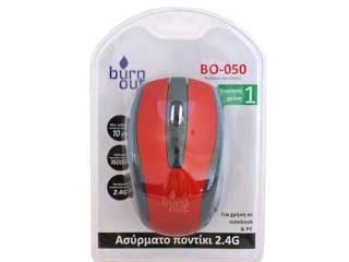 Ποντικι Ασυρματο BO-050 κοκκινο,ανο λιοσια