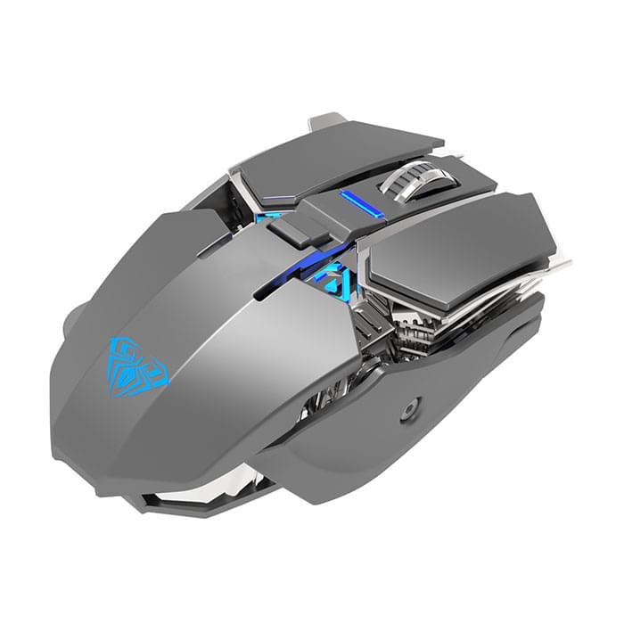 Gaming Mouse Φωτιζομενο Ασυρματο επαναφορτιζομενο AULA Wind SC300, 1200DPI, 7 πλήκτρα ano liosia kamatero axarnai eshop