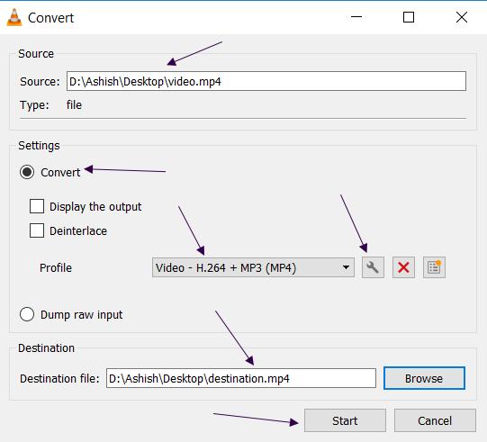 Converting Files in VLC