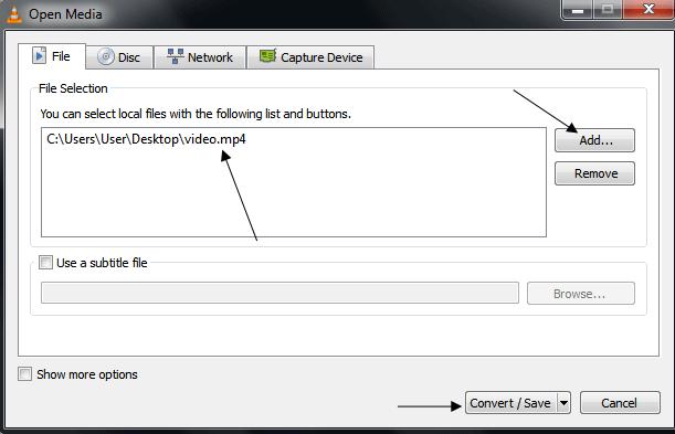 Converting Media in VLC