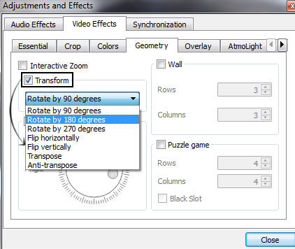 vlc-video-transform
