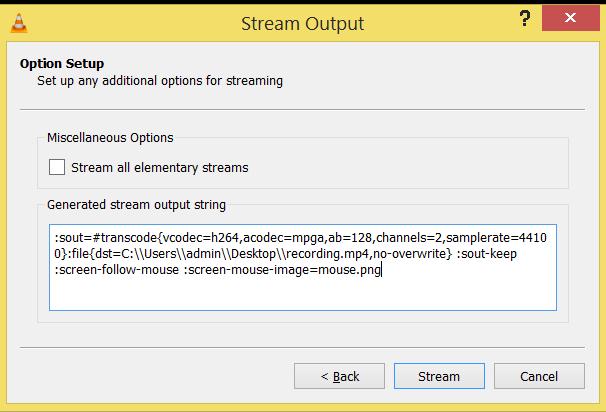 Stream Output