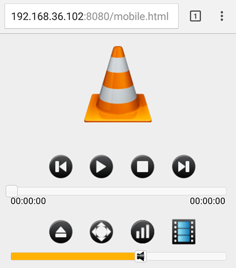 VLC Mobile Web Interface