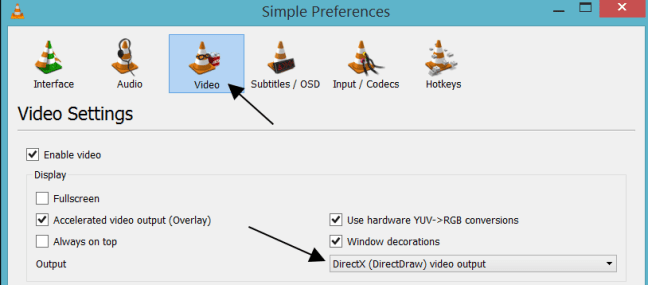 DirectX (DirectDraw) Video Output