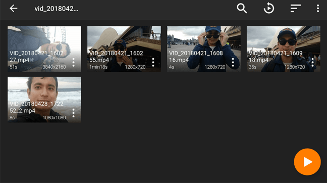 Dark Theme Preview in VLC