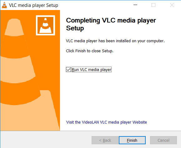 Installation Completion Screen
