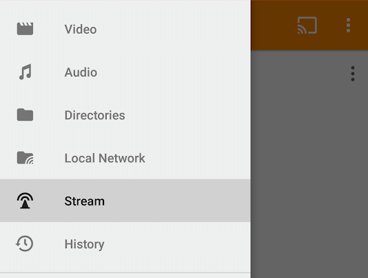 Open Online Stream in Android
