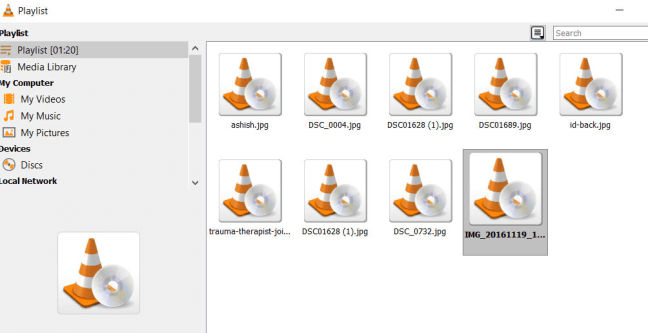 Image Playlist in VLC
