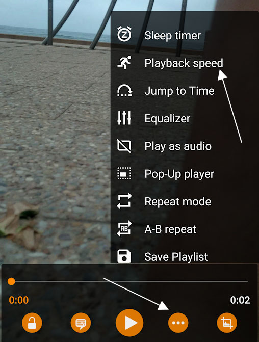 Playback Speed in VLC