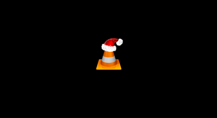VLC Player with Santa Hat