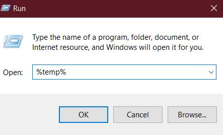 Run Temp Folder