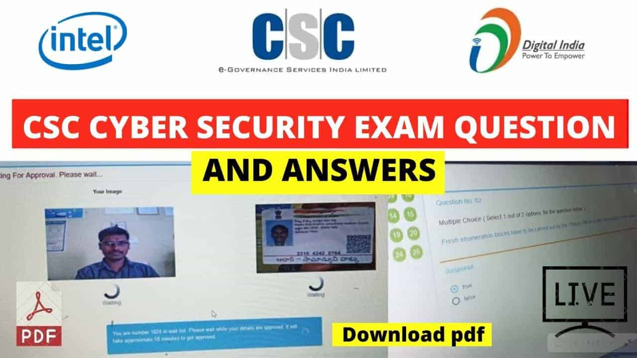 CSC Cyber Security Exam Hindi Questions and Answers Pdf