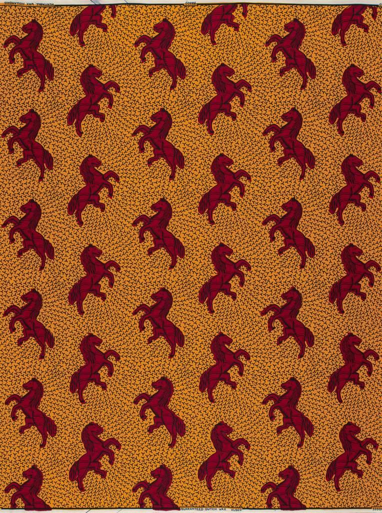 Jumping Horse Vlisco African Ankara Fabric Names