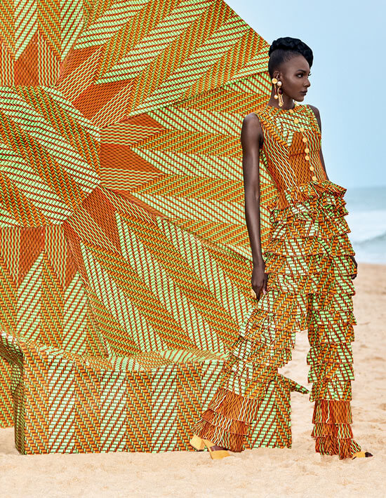 Fantastic ruffles Vlisco Lookbook Wax Fantastique