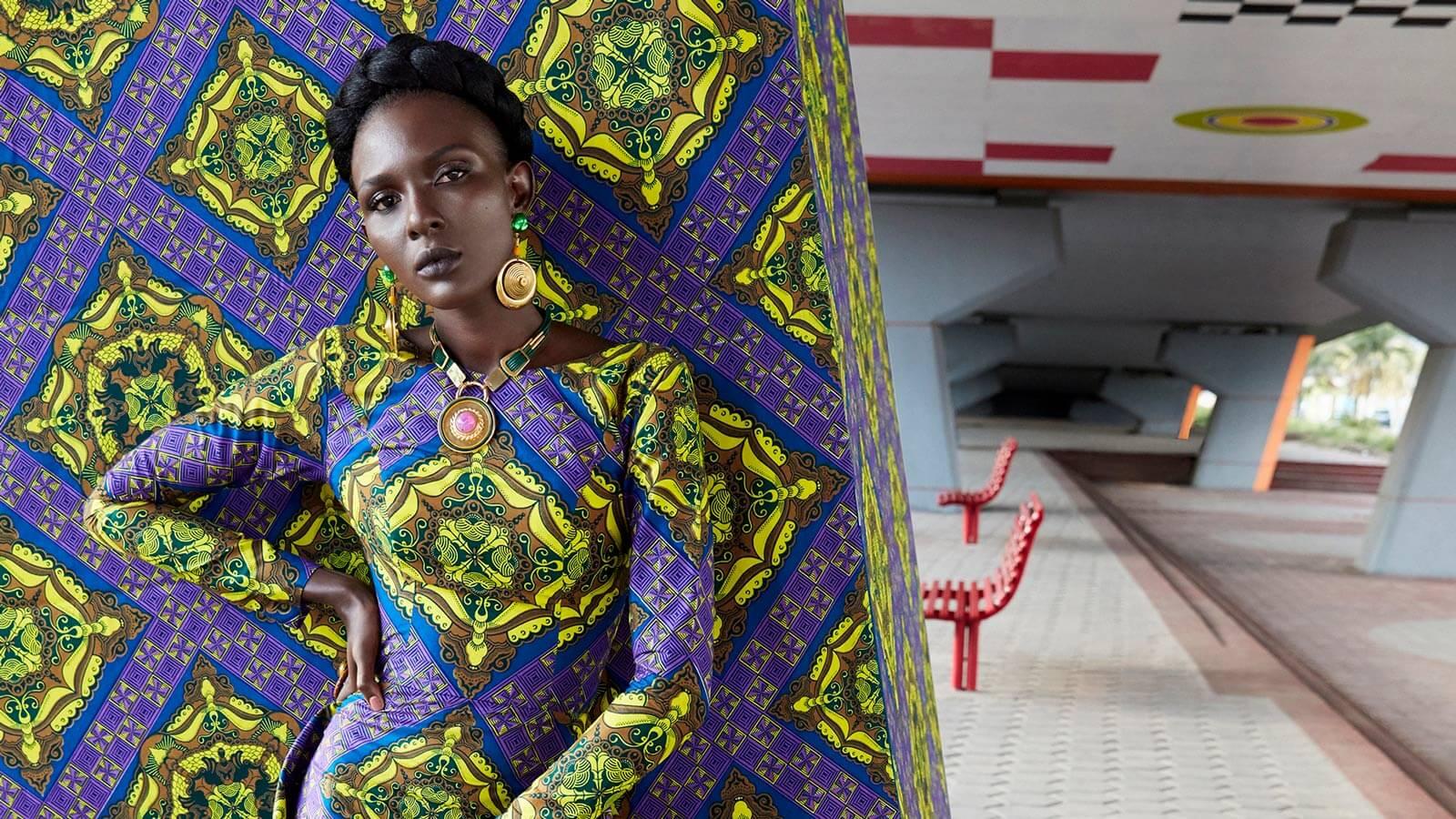 Vlisco Wax Fantastique Campaign fabric VLS3071.004