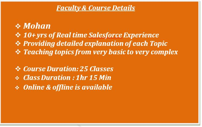 salesforce mohan lightning course content