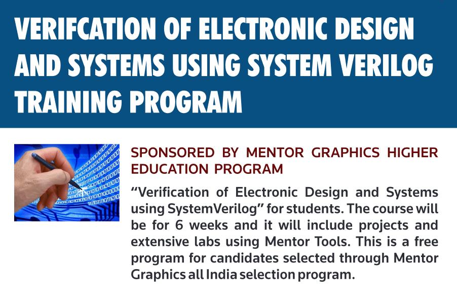 Mentor Graphics Training Program 2016 | VLSIFacts