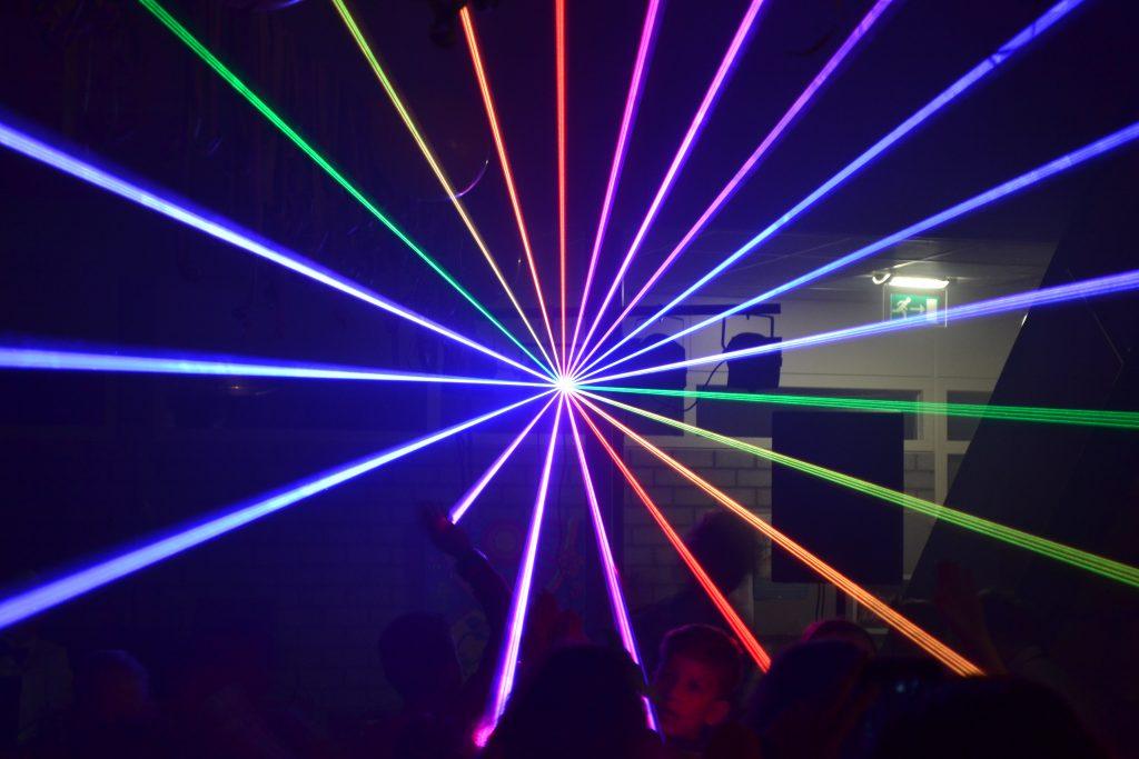Lasershow op mijn feest