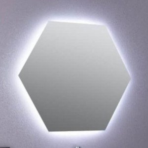 Specchio Design Hexagonal mod. 7080 Retroilluminato a Led