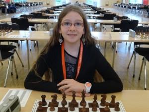 Lara Schulze kurz vor dem Erringen des Deutschen Meistertitels!