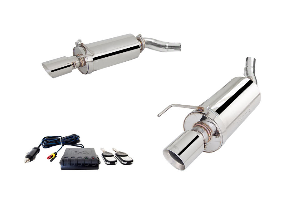 3 stainless axle back system w varex system adjustable exhaust for 2015 2017 mustang gt