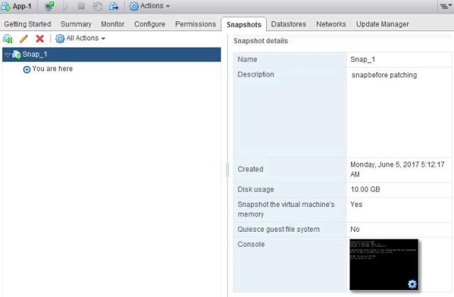 Manage VMware Snapshot from ESXCLI_5