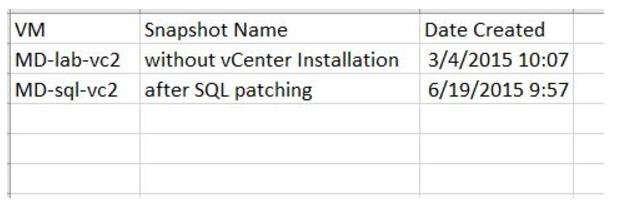 Powercli to report snapshots older than 3 days