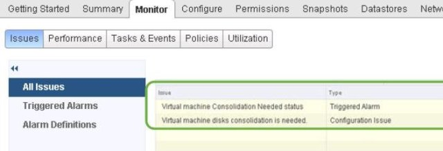 Consolidate VMware Snapshot