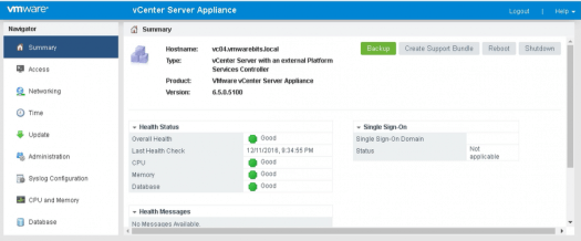 vCenter Appliance backup