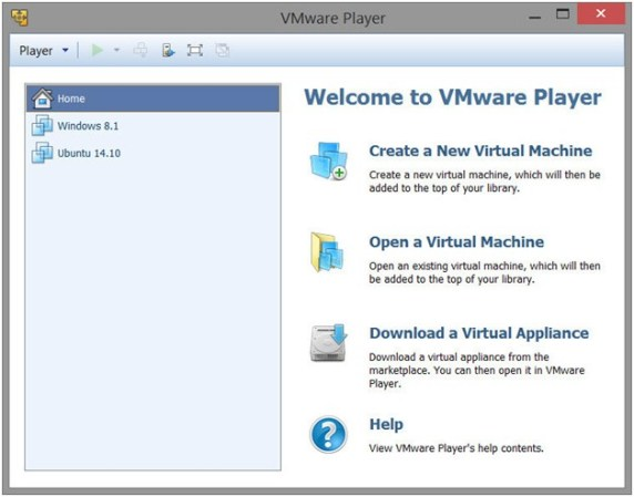 Image result for VMware Workstation Player 14