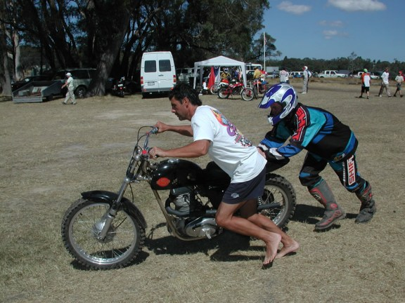 Getting a helping hand at Classic Dirt