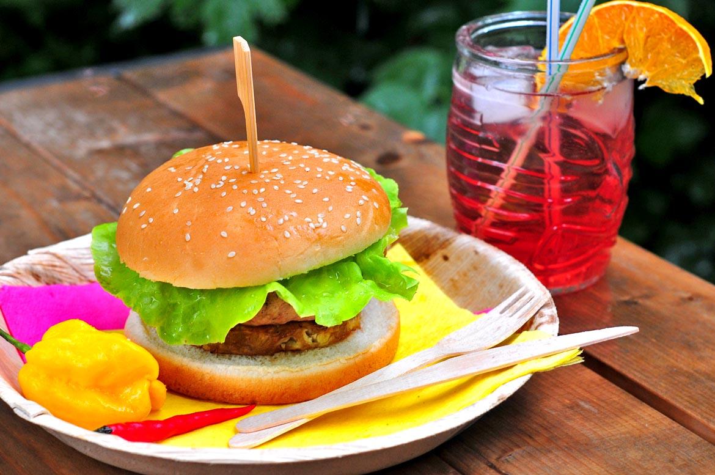karibský burger