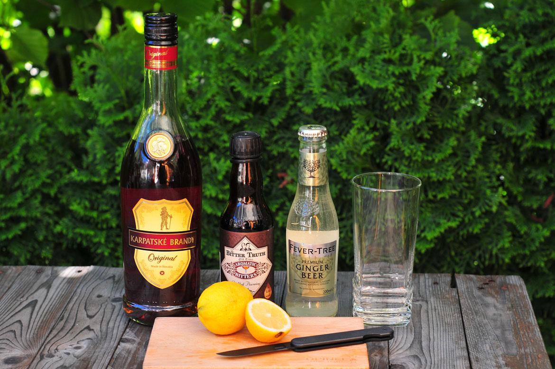 kokteily z Karpatského Brandy Originál