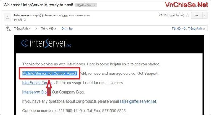 hosting miễn phí 12 tháng tại interserver