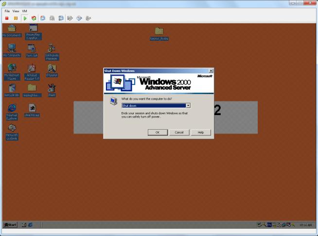 SRM steps shutdown server