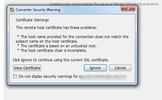 vCenter Server P2V Step 28