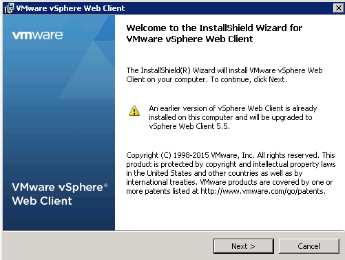 vCenter Upgrade Web-Client Upgrade Step 4