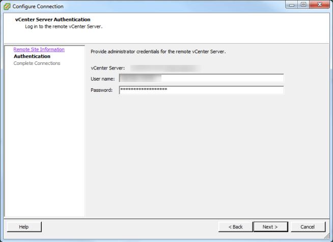 SRM authentication account