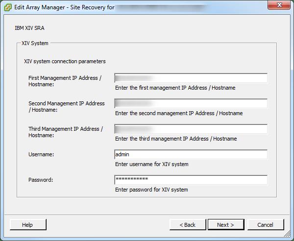 SRM SRA Configuration