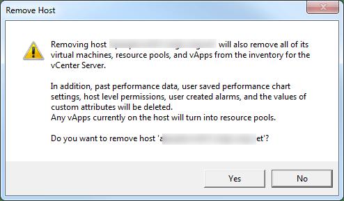 Remove Host 1
