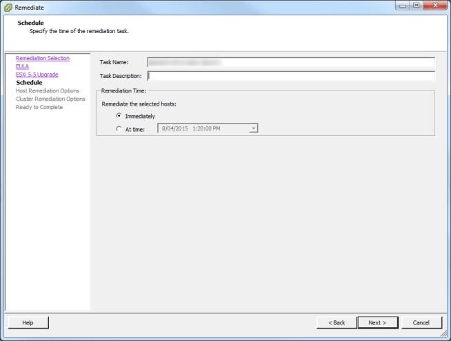 Update Manager Host Upgrade Step 3