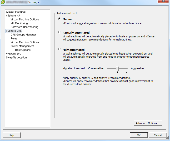 esxi-upgrade-DRS-disable-cluster