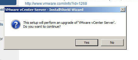 vcenter server upgrade step 2